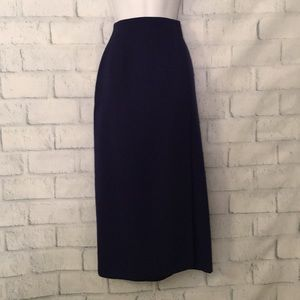 Ellen Tracy navy blue wrap skirt